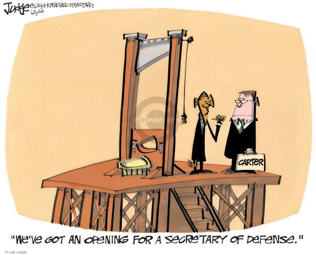 Lee Judge  Lee Judge's Editorial Cartoons 2014-12-04 force