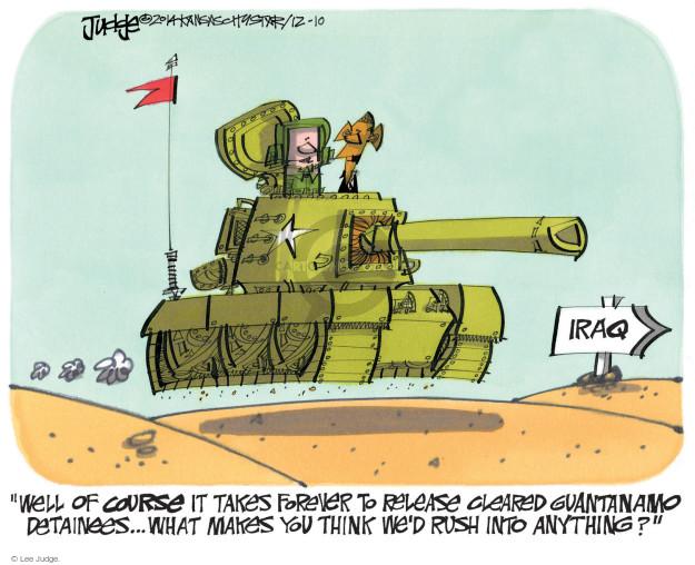 Lee Judge  Lee Judge's Editorial Cartoons 2014-12-10 force