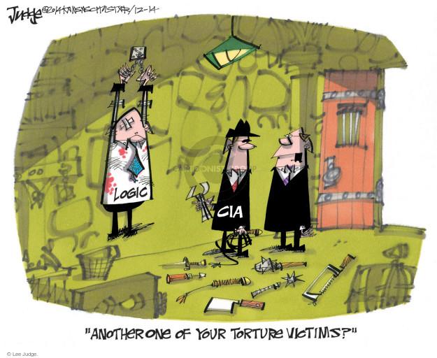 Cartoonist Lee Judge  Lee Judge's Editorial Cartoons 2014-12-14 CIA