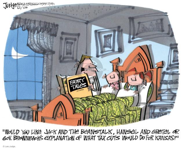 Cartoonist Lee Judge  Lee Judge's Editorial Cartoons 2014-12-30 tax