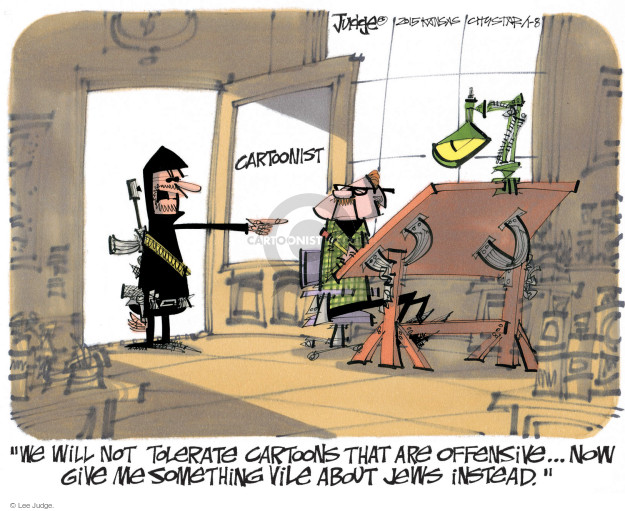 Lee Judge  Lee Judge's Editorial Cartoons 2015-01-07 freedom of the press