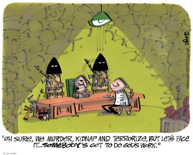 Lee Judge  Lee Judge's Editorial Cartoons 2015-01-10 violent