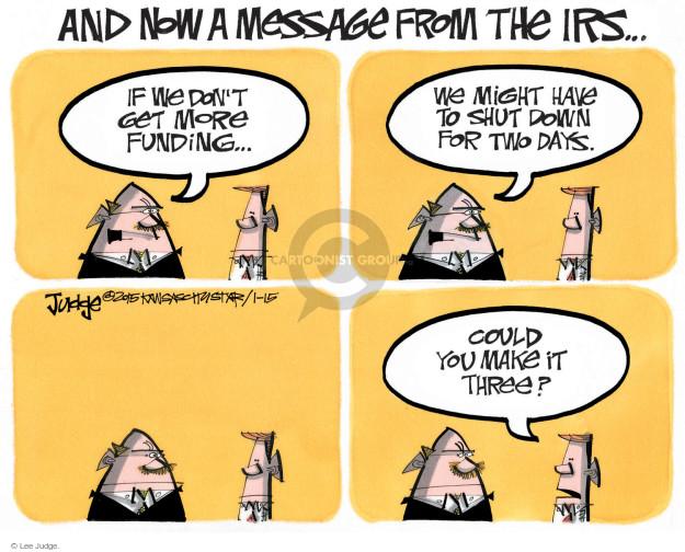 Lee Judge  Lee Judge's Editorial Cartoons 2015-01-15 federal budget