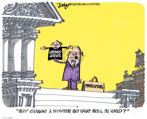 Lee Judge  Lee Judge's Editorial Cartoons 2015-01-23 justice