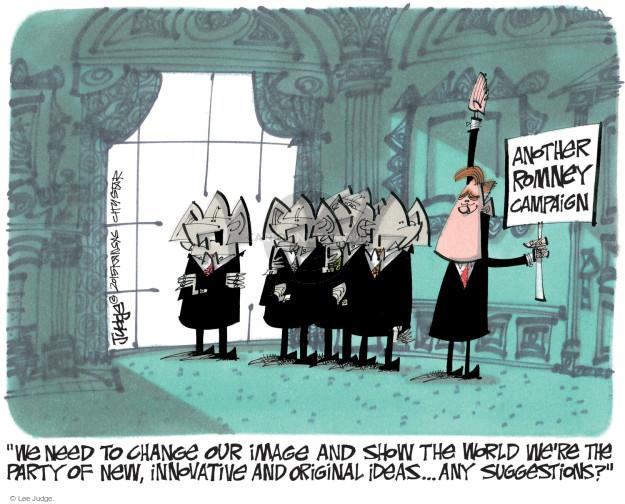 Lee Judge  Lee Judge's Editorial Cartoons 2015-01-28 2016 election Mitt Romney