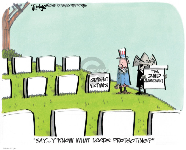 Lee Judge  Lee Judge's Editorial Cartoons 2015-02-04 gun rights