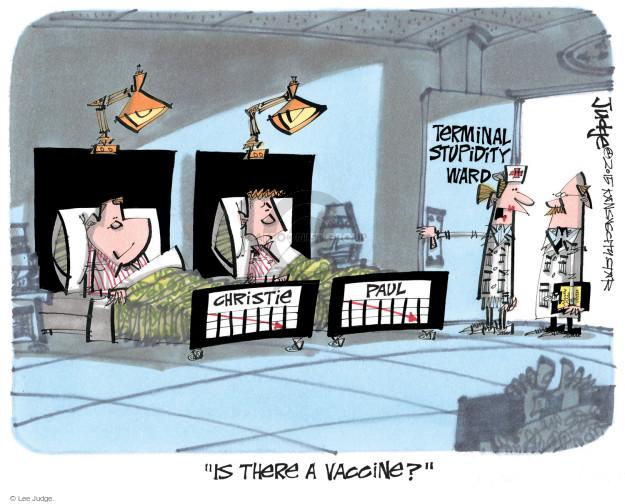 Cartoonist Lee Judge  Lee Judge's Editorial Cartoons 2015-02-05 disease prevention