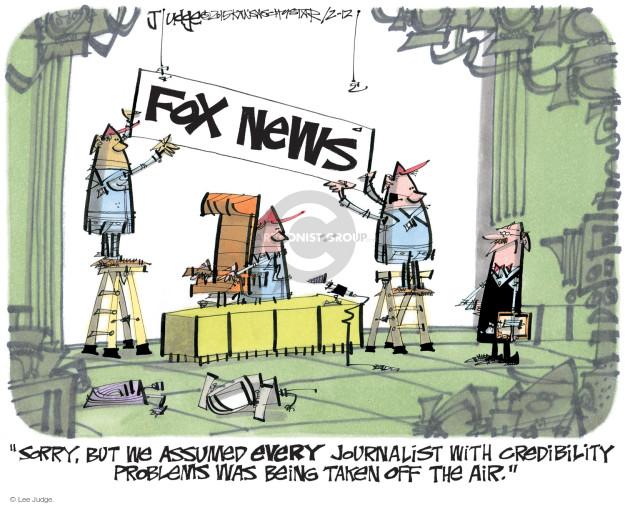 Lee Judge  Lee Judge's Editorial Cartoons 2015-02-12 journalism