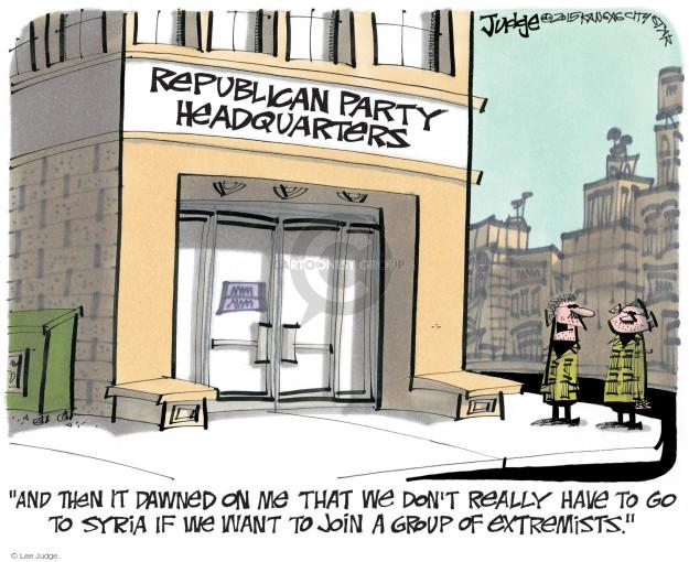 Cartoonist Lee Judge  Lee Judge's Editorial Cartoons 2015-02-15 conservatism