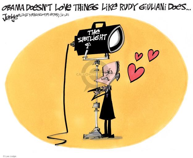Lee Judge  Lee Judge's Editorial Cartoons 2015-02-21 Rudy Giuliani
