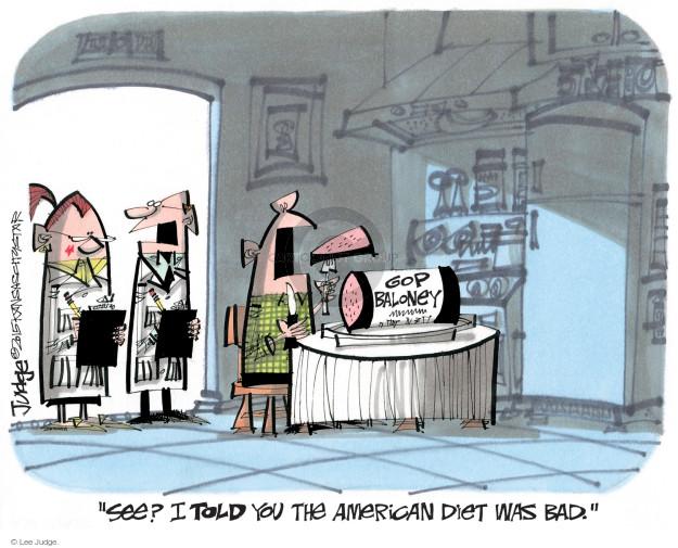Cartoonist Lee Judge  Lee Judge's Editorial Cartoons 2015-02-22 conservatism