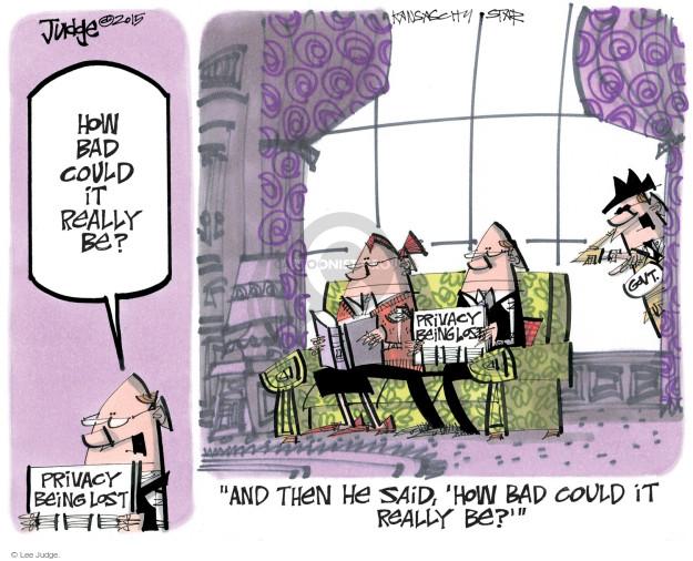 Lee Judge  Lee Judge's Editorial Cartoons 2015-03-25 privacy
