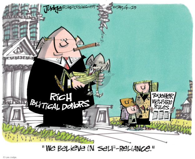 Lee Judge  Lee Judge's Editorial Cartoons 2015-04-19 political donation