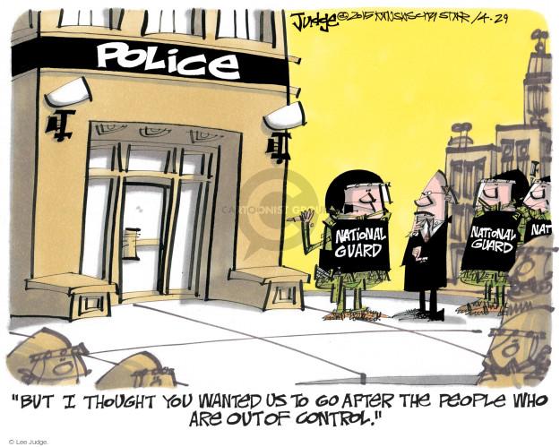 Lee Judge  Lee Judge's Editorial Cartoons 2015-04-29 racism