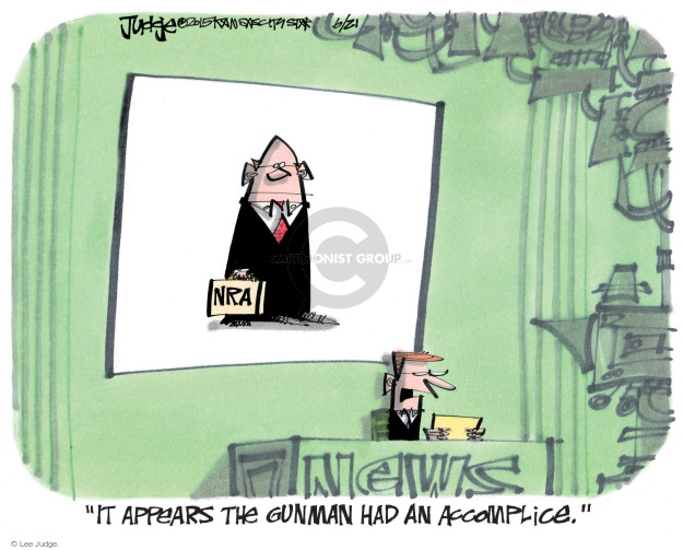 Lee Judge  Lee Judge's Editorial Cartoons 2015-06-21 gun violence