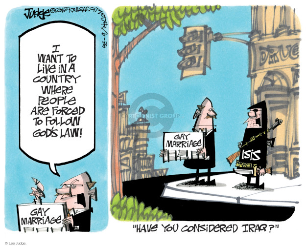 Lee Judge  Lee Judge's Editorial Cartoons 2015-06-30 force