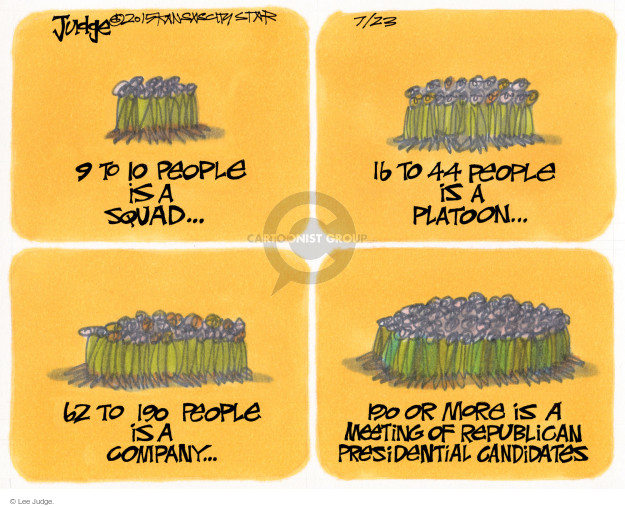 Cartoonist Lee Judge  Lee Judge's Editorial Cartoons 2015-07-23 party