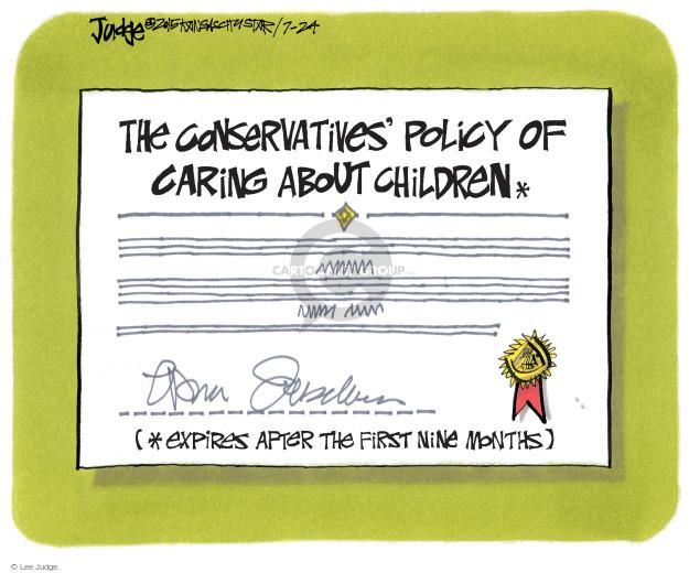 Cartoonist Lee Judge  Lee Judge's Editorial Cartoons 2015-07-24 conservative