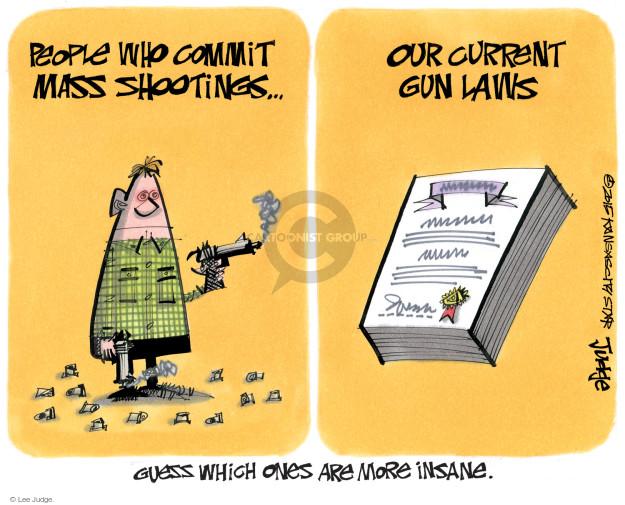 Lee Judge  Lee Judge's Editorial Cartoons 2015-07-29 gun violence