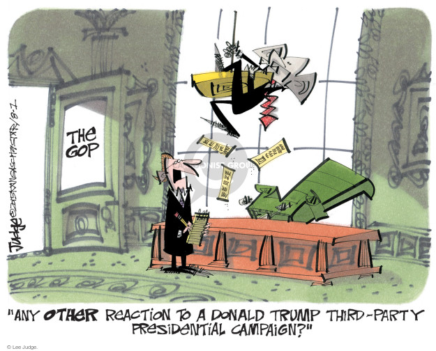 Cartoonist Lee Judge  Lee Judge's Editorial Cartoons 2015-08-01 party
