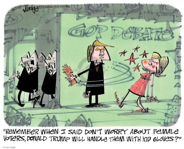 Lee Judge  Lee Judge's Editorial Cartoons 2015-08-16 2016 Republican Debate
