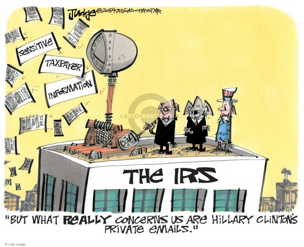 Lee Judge  Lee Judge's Editorial Cartoons 2015-08-19 tax