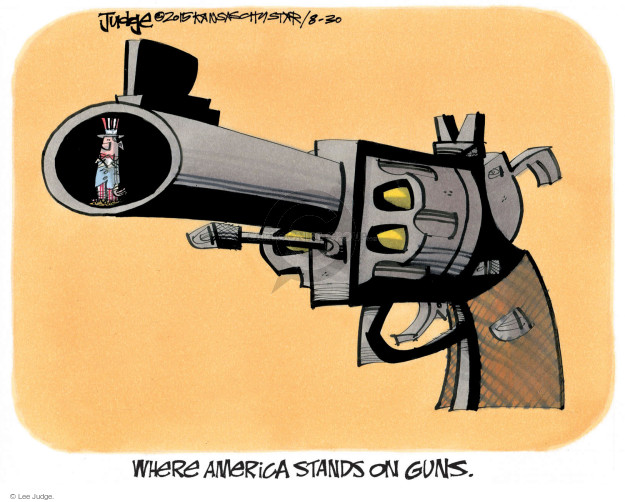 Lee Judge  Lee Judge's Editorial Cartoons 2015-08-30 gun rights