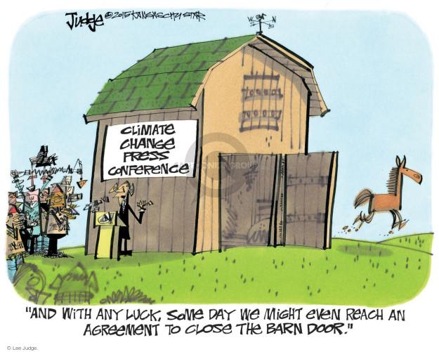 Cartoonist Lee Judge  Lee Judge's Editorial Cartoons 2015-09-03 Obama climate change