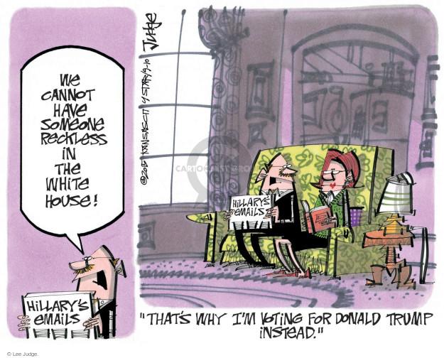 Lee Judge  Lee Judge's Editorial Cartoons 2015-09-10 vote