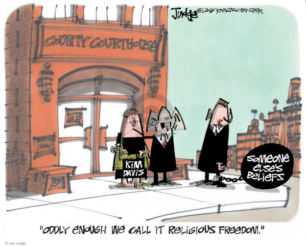 Lee Judge  Lee Judge's Editorial Cartoons 2015-09-13 freedom of religion