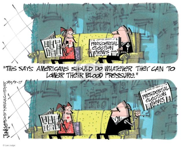 Lee Judge  Lee Judge's Editorial Cartoons 2015-09-17 journalism