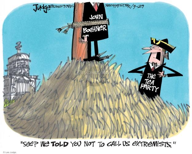 Cartoonist Lee Judge  Lee Judge's Editorial Cartoons 2015-09-29 conservatism