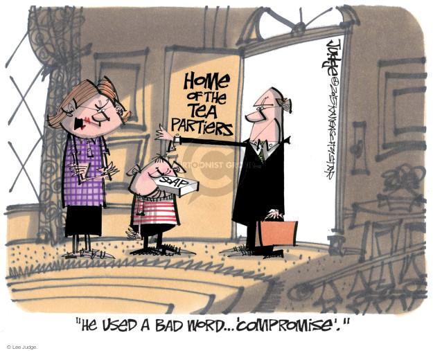 Cartoonist Lee Judge  Lee Judge's Editorial Cartoons 2015-10-02 conservatism