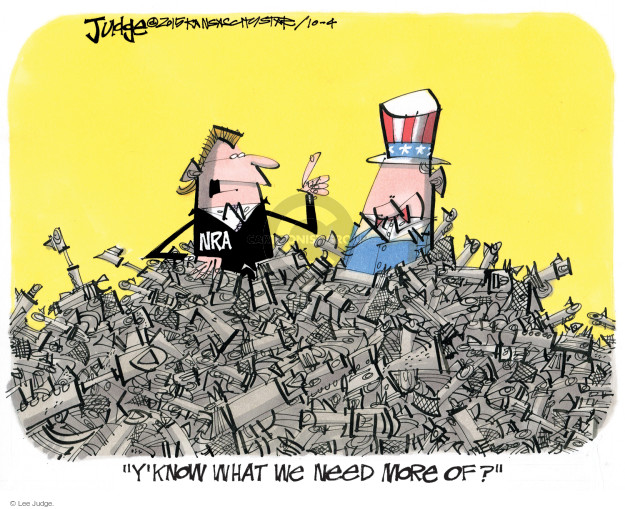 Lee Judge  Lee Judge's Editorial Cartoons 2015-10-04 rifle
