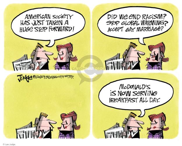 Lee Judge  Lee Judge's Editorial Cartoons 2015-10-08 racism