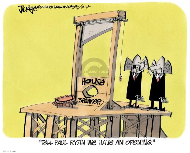 Lee Judge  Lee Judge's Editorial Cartoons 2015-10-14 Speaker of the House
