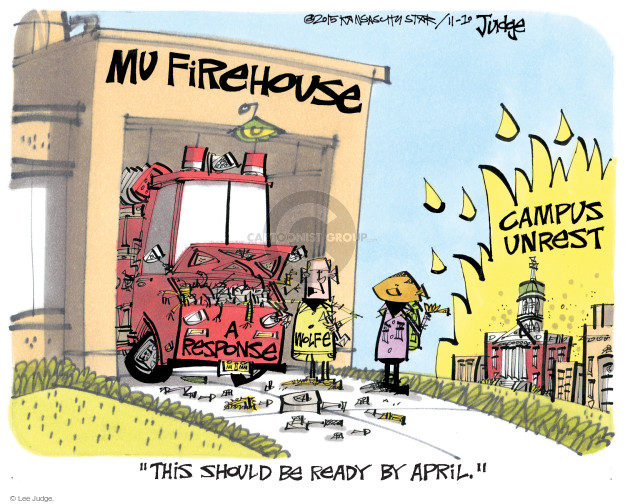 Lee Judge  Lee Judge's Editorial Cartoons 2015-11-10 unrest