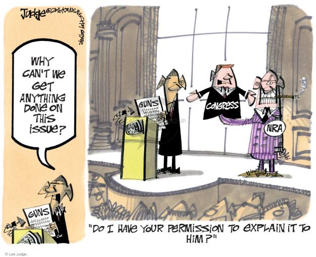 Lee Judge  Lee Judge's Editorial Cartoons 2016-01-07 rifle