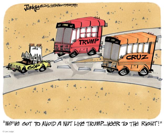 Cartoonist Lee Judge  Lee Judge's Editorial Cartoons 2016-03-10 conservatism
