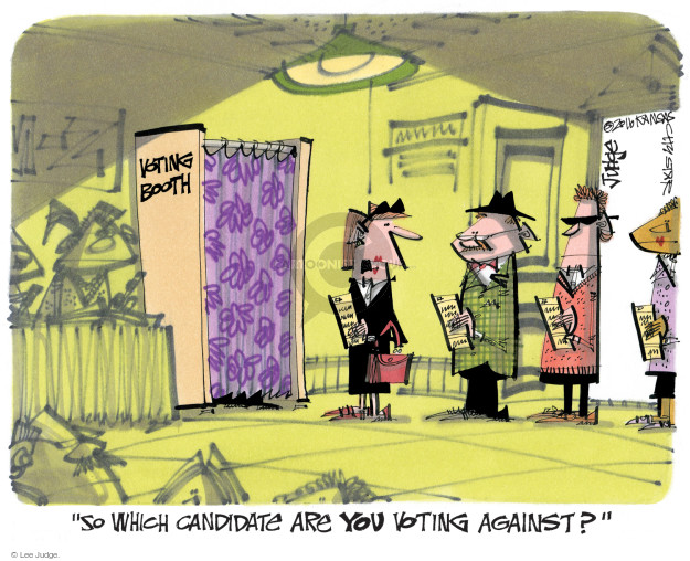 Lee Judge  Lee Judge's Editorial Cartoons 2016-04-10 voter