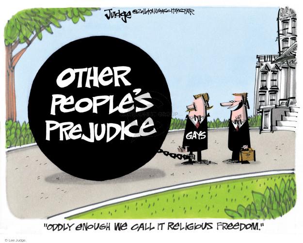 Lee Judge  Lee Judge's Editorial Cartoons 2016-04-14 freedom of religion