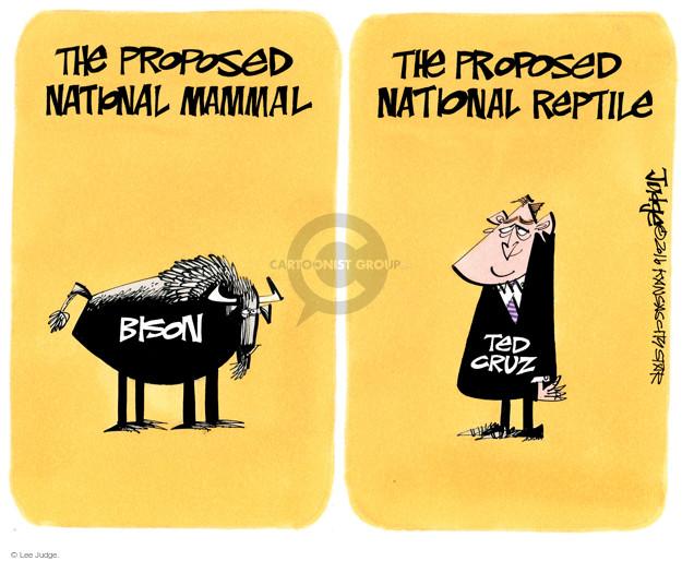 Lee Judge  Lee Judge's Editorial Cartoons 2016-05-01 2016 Election Ted Cruz
