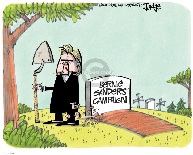Lee Judge  Lee Judge's Editorial Cartoons 2016-05-13 Bernie Sanders