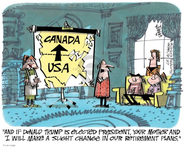 Cartoonist Lee Judge  Lee Judge's Editorial Cartoons 2016-05-27 emigration
