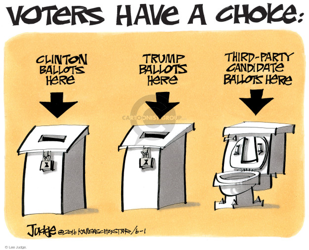 Lee Judge  Lee Judge's Editorial Cartoons 2016-06-01 vote
