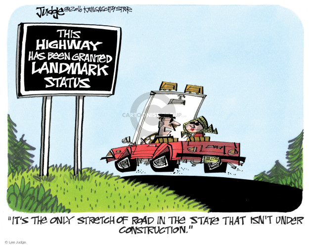 Lee Judge  Lee Judge's Editorial Cartoons 2016-06-23 highway