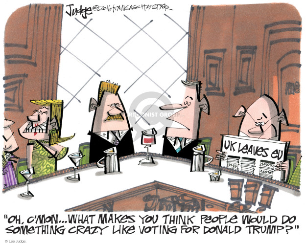 Lee Judge  Lee Judge's Editorial Cartoons 2016-06-26 vote