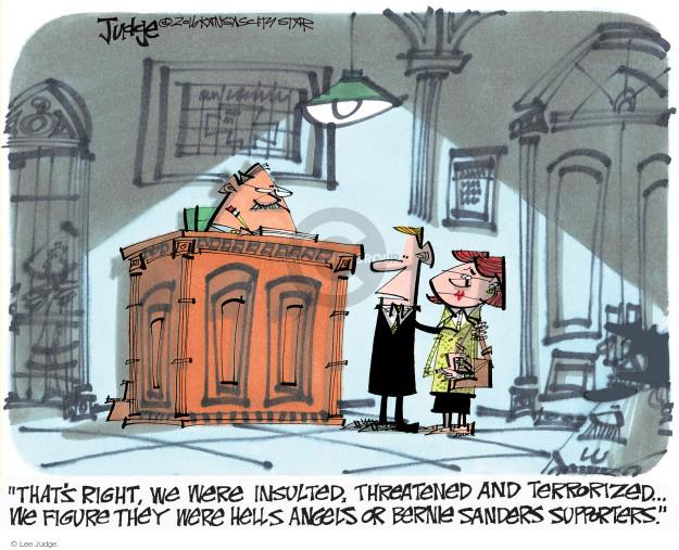 Lee Judge  Lee Judge's Editorial Cartoons 2016-06-28 Bernie Sanders