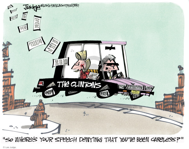 Lee Judge  Lee Judge's Editorial Cartoons 2016-07-07 speak