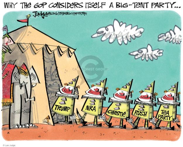 Cartoonist Lee Judge  Lee Judge's Editorial Cartoons 2016-07-20 party